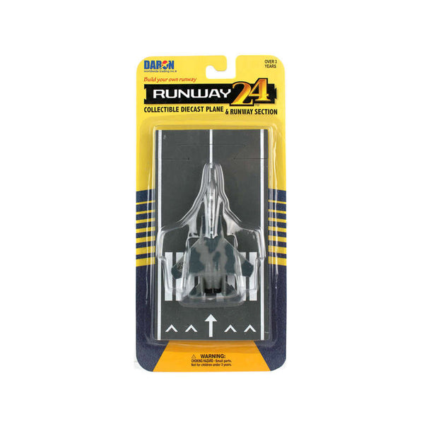 Runway24 F-15 Eagle Die-Cast Model -- Silver