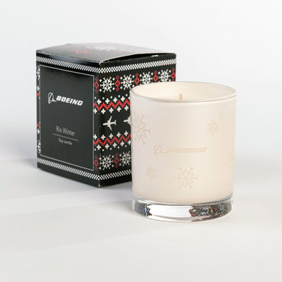Boeing Jet Snowflake 2019 Candle