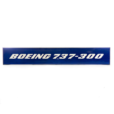 Boeing 737-300 Fuselage Wall Sign