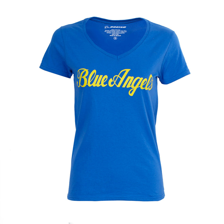 Blue Angels Logo V-Neck T-Shirt - Women