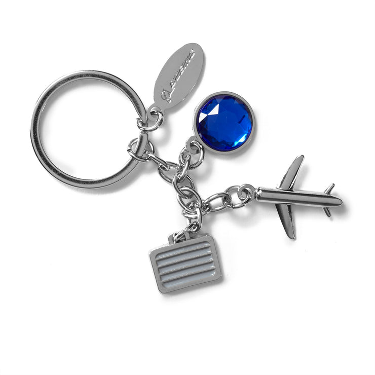 Airplane and Suitcase Charm Keychain (211878084620)