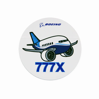 Boeing 777X Pudgy Sticker