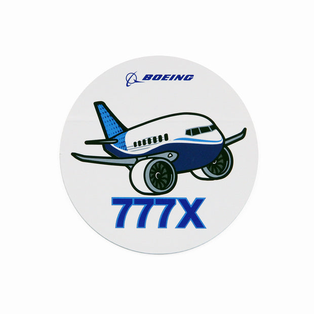Boeing 777X Pudgy Sticker (2866191990906)