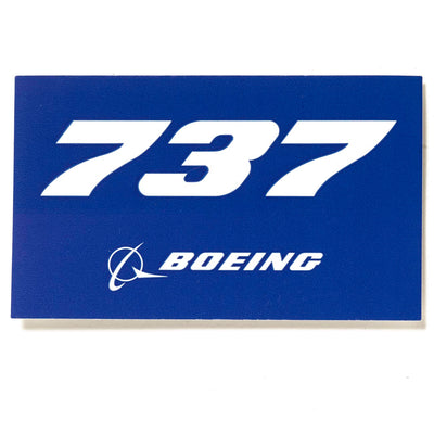 Boeing 737 Blue Sticker
