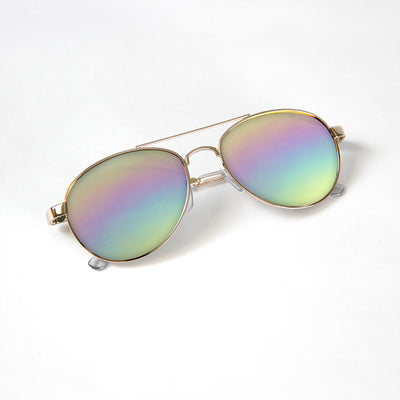 Kids Rainbow Aviator Glasses