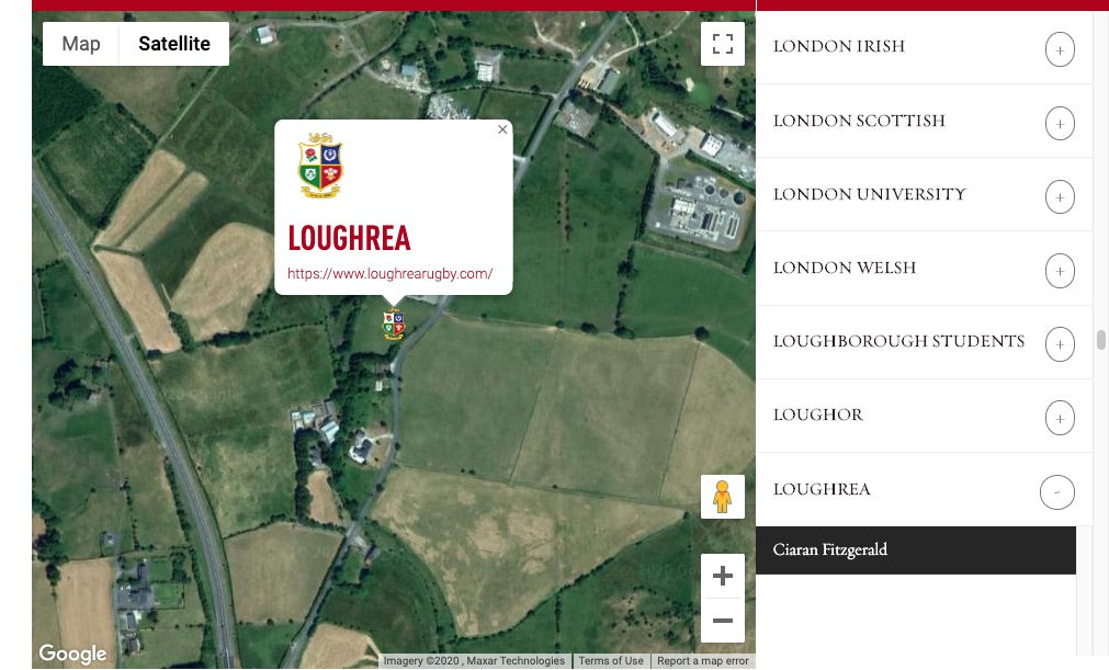 Loughrea Lions Origin Map