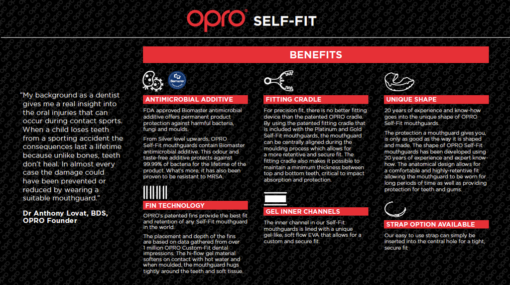 Opro Benefits Self fit