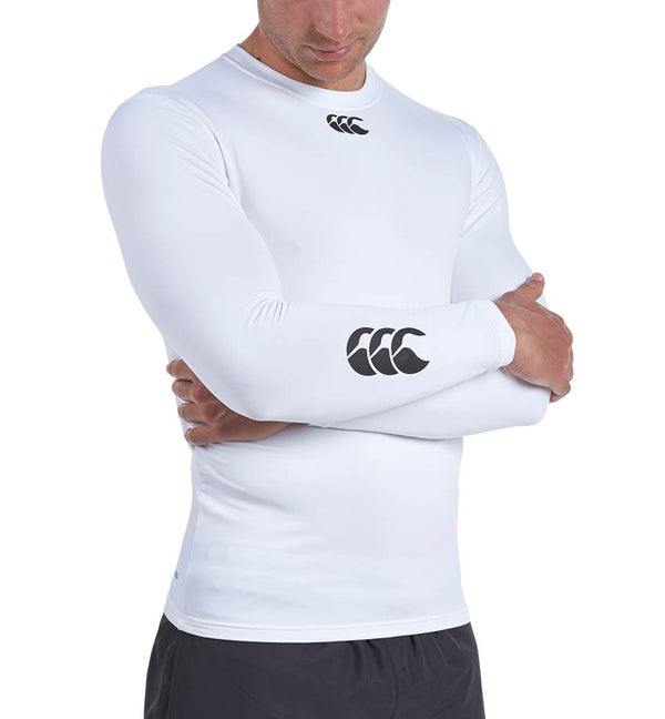 Small Canterbury Women/'s/'s Thermoreg Baselayer Long Sleeve Top White