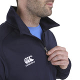 Team 1/4 Zip Mid Layer - Canterbury - Navy - Close up