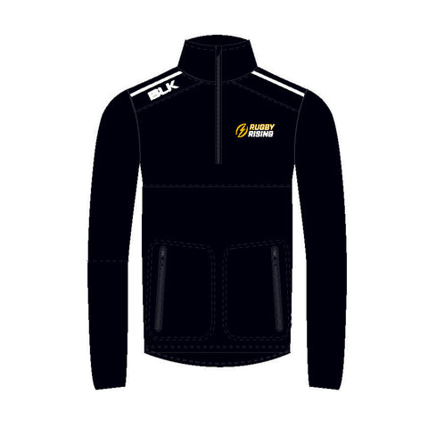 Rugby Rising BLK 1/4 Zip 2018