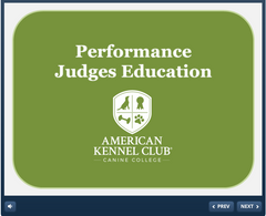 Performance Judges Education