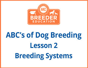 ABCs of Dog Breeding, Breeding Systems - Free Course