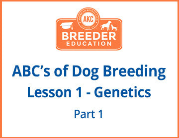 ABCs of Dog Breeding, Genetics Part 1 - Free Course