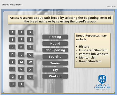 Image of Breed Resource HomePage