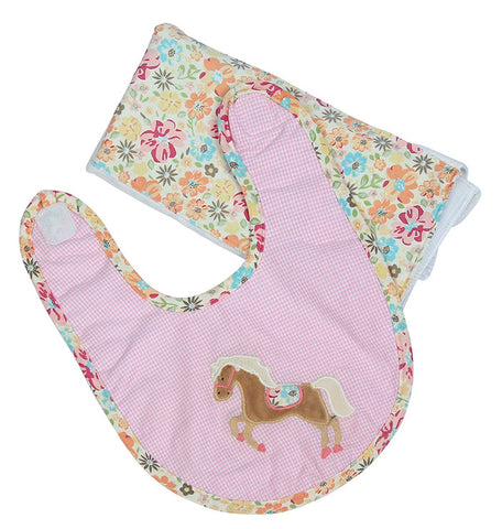 Horse Boxed Bib & Burp Gift
