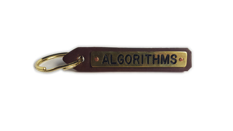 Algorithms Leather Key Chain