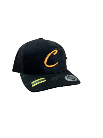 "Black Camo ""C"" Mesh Back Hat"