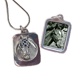 Secretariat Enameled Photo Pendant