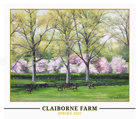 """Kentucky in Bloom"" Claiborne Farm Spring 2021 Poster Print"