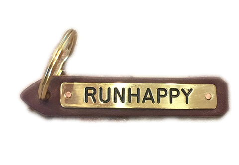 Runhappy Leather Key Chain