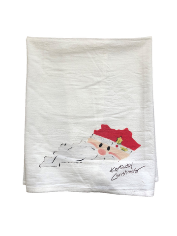 Kentucky Christmas Santa Tea Towel