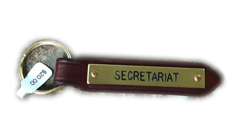 Secretariat Leather Key Chain