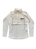 Ladies' White Half Zip Pullover