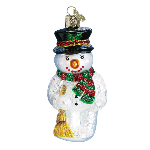 Old World Christmas Ornament - Snowman with Broom