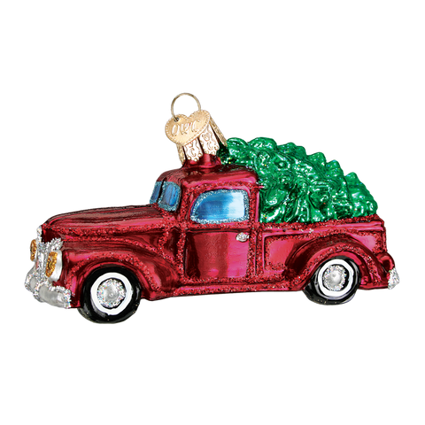 Old World Christmas Ornament - Old Truck with Tree