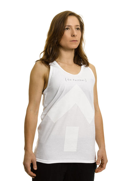 Go Further Longline Tank Top - White