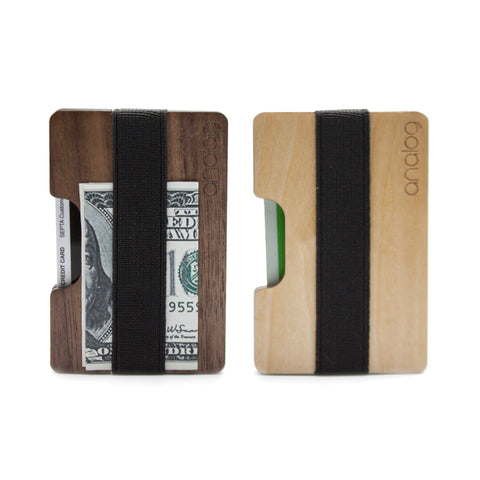 Birch & Walnut Wallet Card Holder Duo