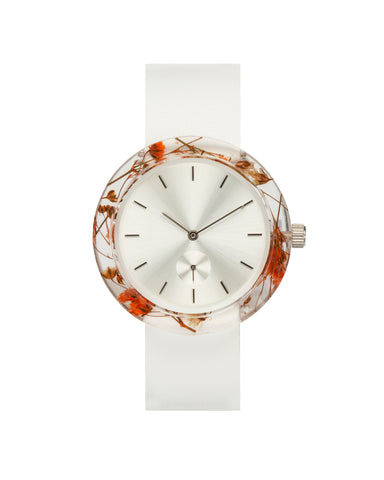 Orange Baby's Breath Botanist Watch - Analog Watch Co.