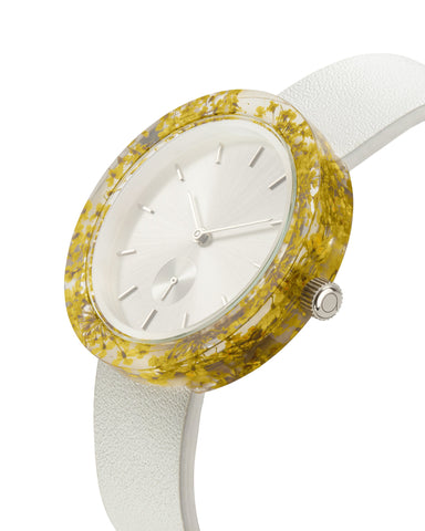 Yellow Queen Anne's Lace Botanist Watch - Analog Watch Co.