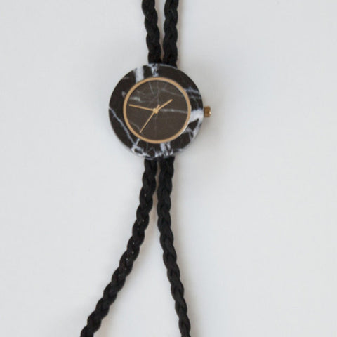 Affordable braided bolos with gold finishing for a unique take on a classic timepiece