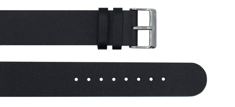 Black Leather Strap - For Botanist Watches - Analog Watch Co.