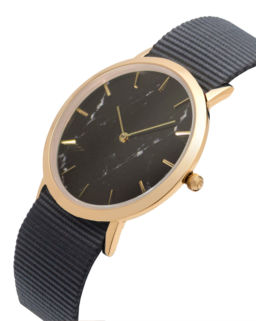 Faux Marble Classic Watch - Nylon BONUS Offer - Analog Watch Co.