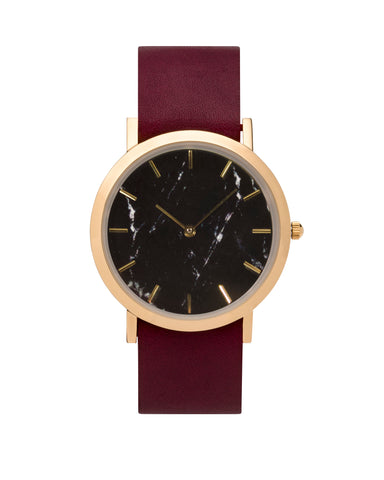 Faux Black Marble Classic Watch - Analog Watch Co.