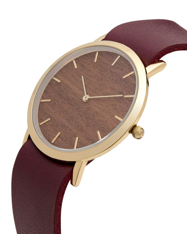 Makore Wood Classic Watch - Analog Watch Co.