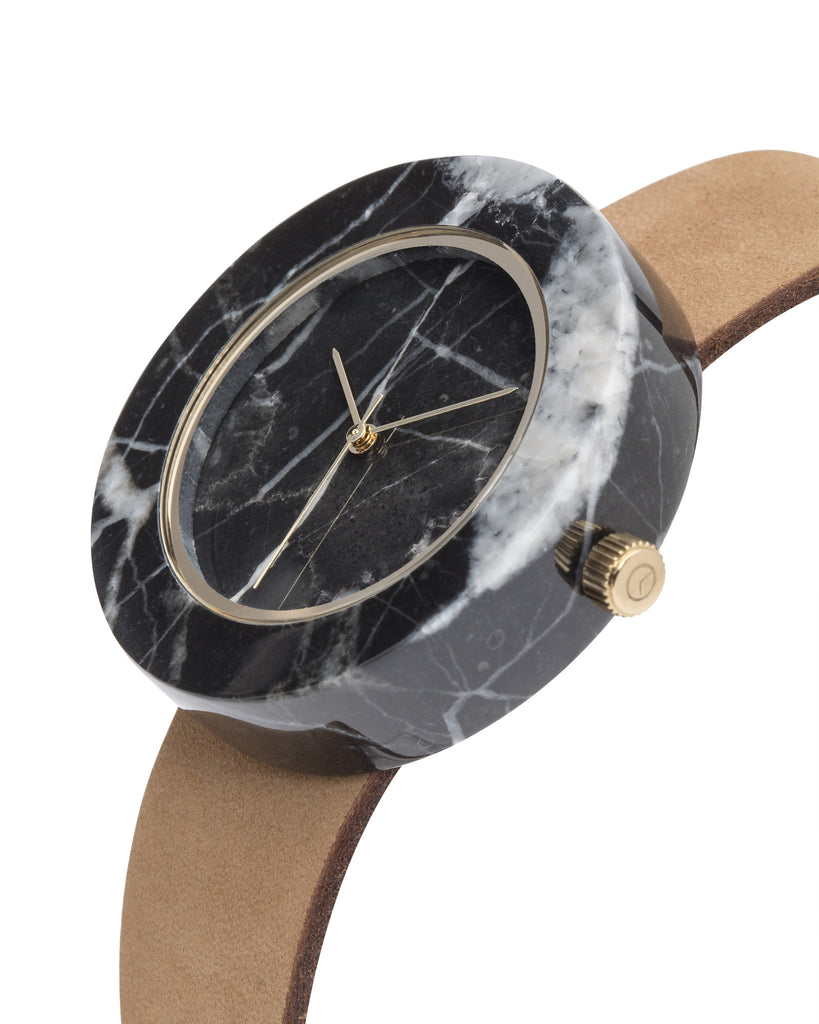 Black Marble Circle Mason Watch