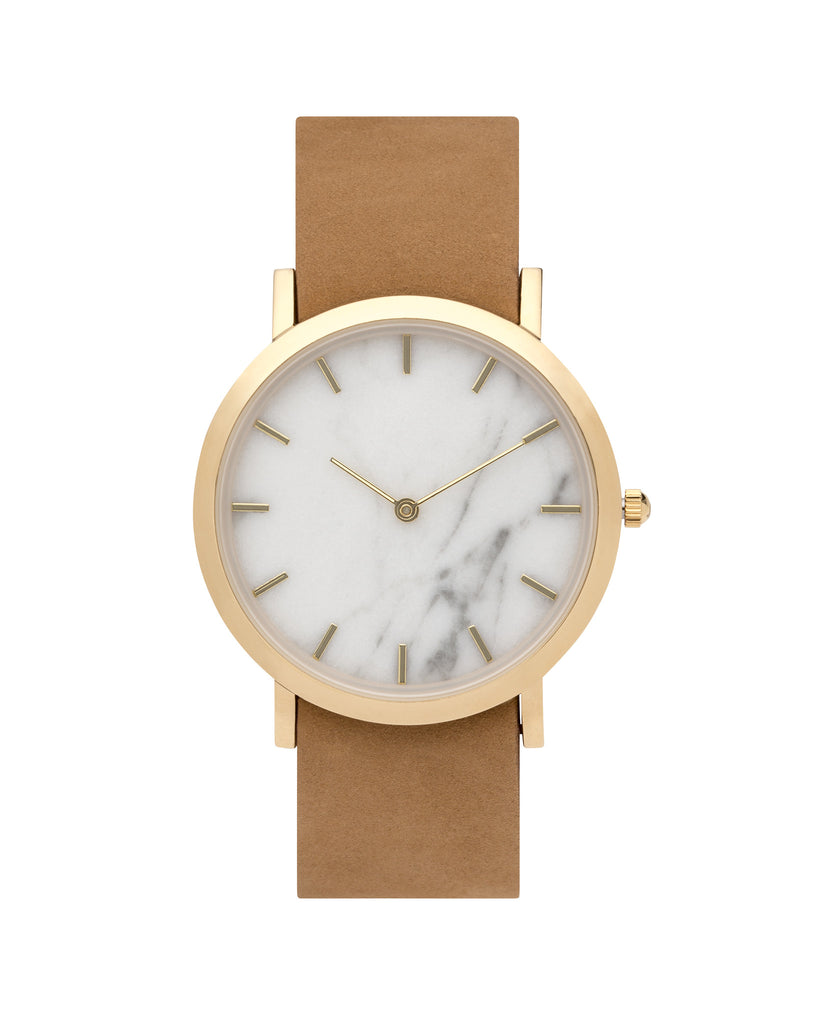 White Marble Classic Watch - Analog Watch Co.
