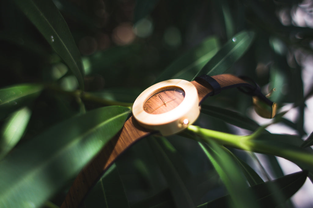 Teak & Bamboo Watch
