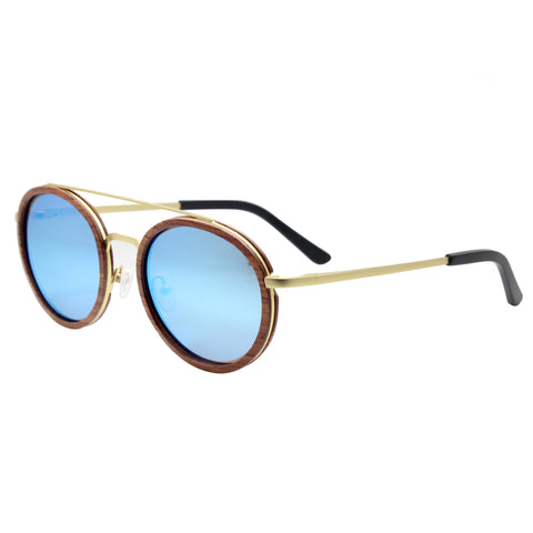 Caden Wood & Metal Sunglasses