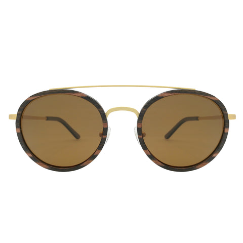 Caden Wood & Metal Sunglasses - Analog Watch Co.