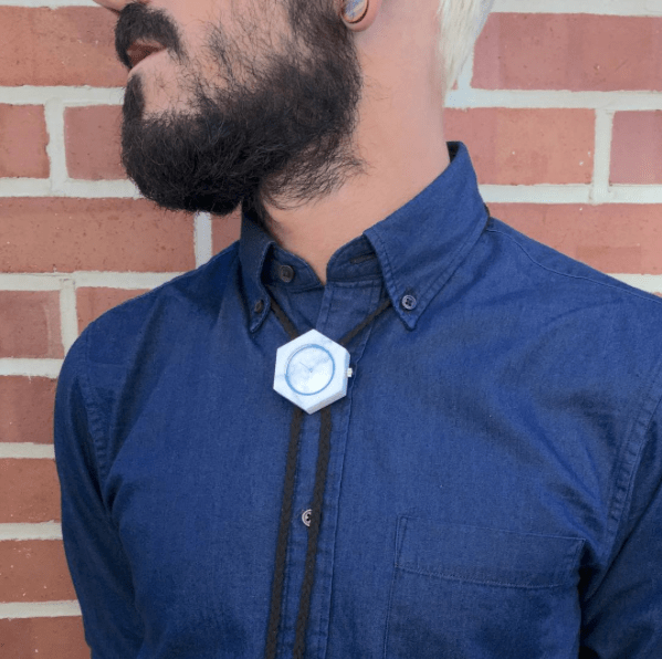 Solid white marble bolo tie for both casual and formal wear