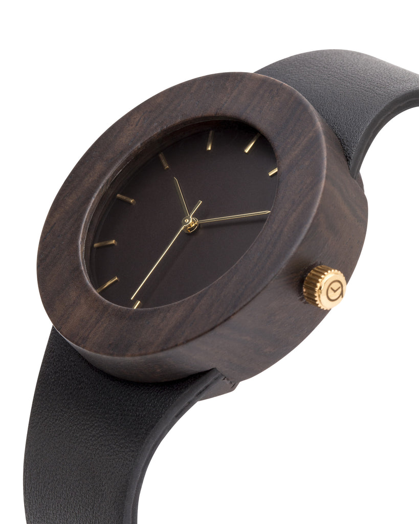 Leather & Blackwood Watch - Analog Watch Co.
