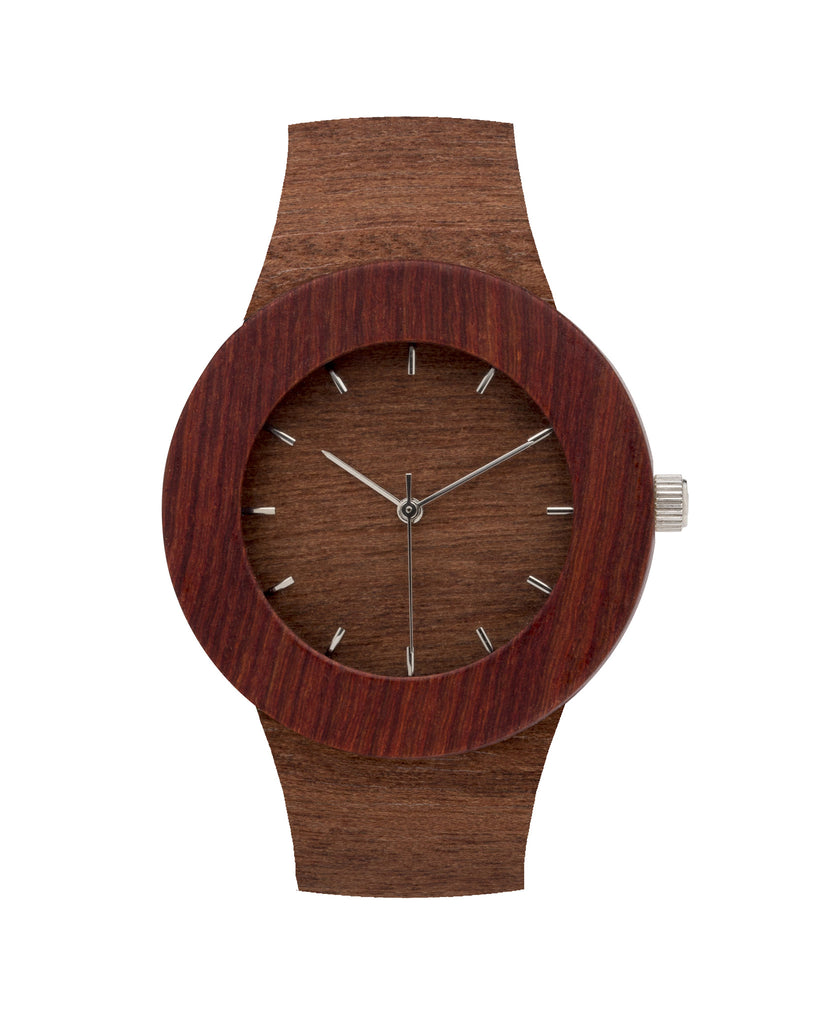 Makore & Red Sanders Watch - Analog Watch Co.