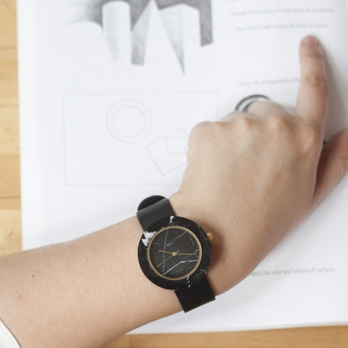 solid marble wrist watch for architects, designers, and design enthusiasts