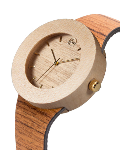 Maker's Mark Watch - Teak and Maple - Analog Watch Co.