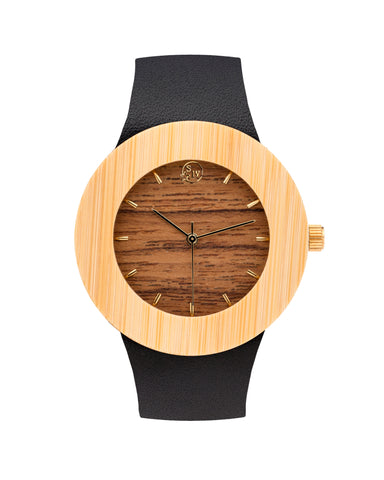 Maker's Mark Watch - Leather and Bamboo - Analog Watch Co.