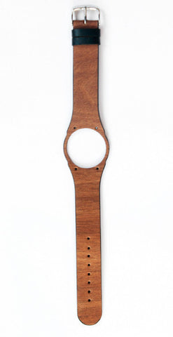 First ever soft flexible wooden watch strap made with genuine makore wood